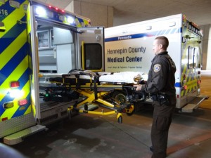 Stryker Power-Load lifts into ambulance with ease.