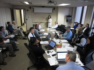 Physicians and psychiatric staff meet weekly to assess patient progress, psychiatric and medical care needs.