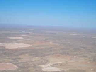 Terrain from flight to Baikonur, Kazakhstan